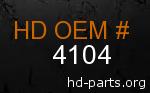 hd 4104 genuine part number