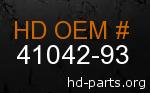 hd 41042-93 genuine part number