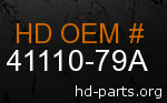 hd 41110-79A genuine part number