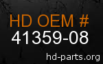 hd 41359-08 genuine part number