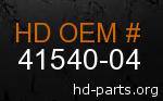 hd 41540-04 genuine part number