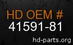 hd 41591-81 genuine part number