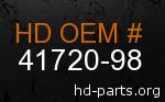 hd 41720-98 genuine part number