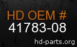 hd 41783-08 genuine part number