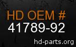hd 41789-92 genuine part number