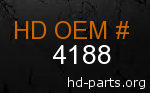 hd 4188 genuine part number