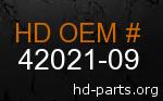 hd 42021-09 genuine part number