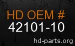 hd 42101-10 genuine part number