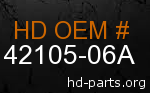 hd 42105-06A genuine part number