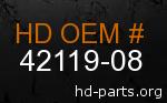hd 42119-08 genuine part number