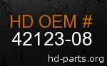 hd 42123-08 genuine part number