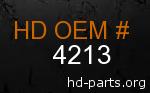 hd 4213 genuine part number