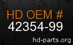 hd 42354-99 genuine part number