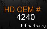 hd 4240 genuine part number