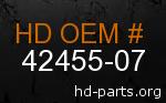 hd 42455-07 genuine part number