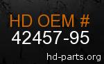 hd 42457-95 genuine part number