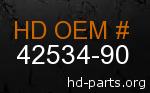 hd 42534-90 genuine part number