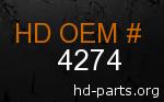 hd 4274 genuine part number