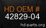 hd 42829-04 genuine part number