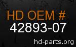 hd 42893-07 genuine part number