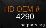 hd 4290 genuine part number