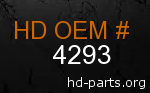 hd 4293 genuine part number