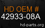 hd 42933-08A genuine part number