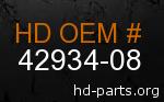 hd 42934-08 genuine part number