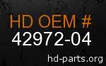 hd 42972-04 genuine part number