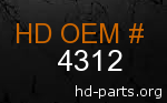 hd 4312 genuine part number