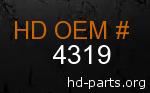 hd 4319 genuine part number