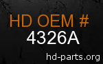 hd 4326A genuine part number