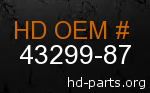hd 43299-87 genuine part number
