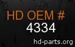 hd 4334 genuine part number