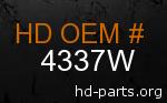 hd 4337W genuine part number