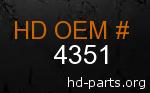 hd 4351 genuine part number