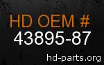 hd 43895-87 genuine part number