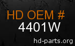 hd 4401W genuine part number