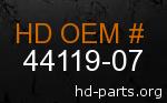 hd 44119-07 genuine part number