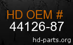 hd 44126-87 genuine part number