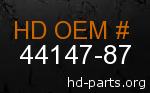 hd 44147-87 genuine part number