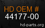 hd 44177-00 genuine part number