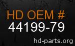 hd 44199-79 genuine part number