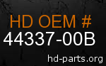 hd 44337-00B genuine part number