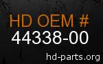 hd 44338-00 genuine part number