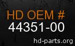 hd 44351-00 genuine part number