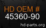 hd 45360-90 genuine part number