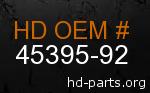 hd 45395-92 genuine part number