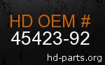 hd 45423-92 genuine part number