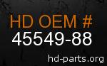 hd 45549-88 genuine part number